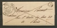 1836 EURE ET LOIR. Lettre en PP CAD T12 BREZOLLES + BR M DAMPIERRE Sup X2944