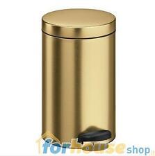 Pattumiera metallo 14 litri oro meliconi