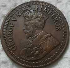 1818 George V King 2 two anna east india company rare palm size temple coin