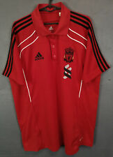 ADIDAS LIVERPOOL 2010 POLO GOLF SOCCER FOOTBALL SHIRT JERSEY MAILLOT RED SIZE L