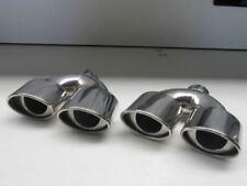 4 Tubo 90x120mm Acciaio Finale Terminale di Scarico Sportivo Mercedes Ottica ABE