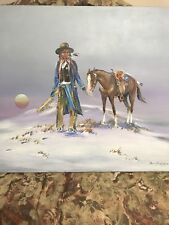 "MICHAEL FARRELL HILL Original Acrylic Canvas 1985 ""INDIAN SHERIFF"" 24X30"