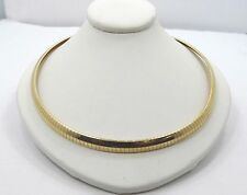 14K Yellow Gold Omega Snake Chain Necklace 18inch A96