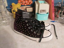 Converse All Star Sangria Velvet Studs High Top Sneakers Size 7 M Women's NWOB