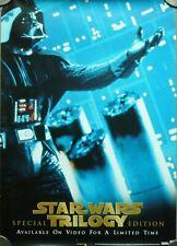 More details for star wars trilogy promo poster for vhs uk release 1997 darth vader - store use