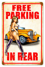 Free parking hot rod pin up v8 tôle bouclier bouclier grand