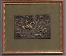 Très belle plaque de chasse en bronze