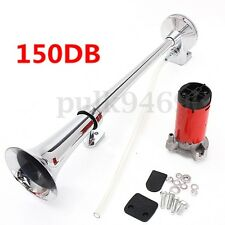 150DB Super Loud Single Trumpet Air Horn Compressor For Truck Car Van Boat Train