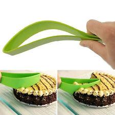 Cake Pie Slicer Sheet Guide Cutter Server Bread Slice Knife Kitchen Gadget Green