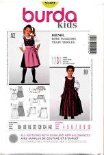 BURDA SEWING PATTERN 9509 GIRLS SZ 4-10 DIRNDL COSTUMES - DRESSES IN TWO LENGTHS