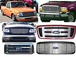 BIL-FO-18  Grille 1973-1977 FORD F-100 F-Serie 2Pc Fits Aluminum 1Pc Shell Only