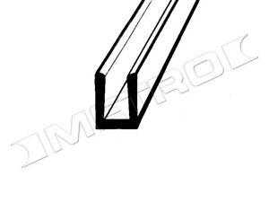 """Glass Setting """"U"""" Channel, 3/8"""" wide x 3/8"""" deep with 1/4"""" inside channel width"""
