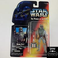 JEREMY BULLOCH Signed Star Wars Boba Fett Action Figure Sawed-Off Blaster 69582