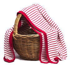 Striped 100% Organic Cotton Baby/Toddler Pram Blanket available in 3 colours