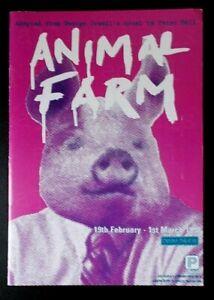Animal Farm programme Plymouth Theatre Royal Drum Theatre 1998 Wayne Adams