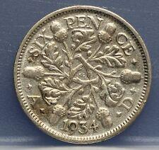 Verenigd Koninkrijk  United Kingdom six pence 1934