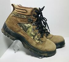 FADED GLORY BROWN LEATHER HIKING BOOTS NINE POINT II MEN'S SIZE 8.5