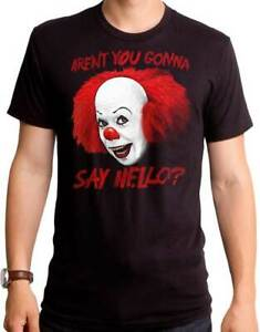 STEPHEN KINGS IT (1990) Say Hello T SHIRT S-2XL New Goodie Two Sleeves Merch