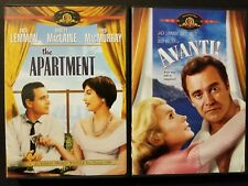 Avanti! & The Apartment Dvds Jack Lemmon Shirley MacLaine Fred MacMurray