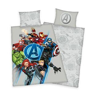 Marvel Avengers Break Thru Single Duvet Cover Bedding Set Grey Poly Cotton