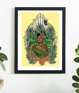 Billie Holiday Singer Black Queen Soul Sister Jazz Art  Print By Msdre