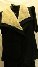 STYLE&CO BNWT FLEECE VEST WITH FAUX FUR COLLAR,SIZE LARGE
