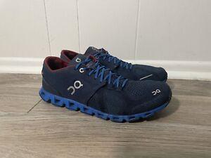 On Cloud X Men's 9.5 Midnight Blue Cobalt Red Running Shoes