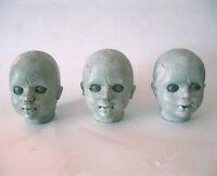 3 Creepy Dead Doll Head Girl Female Scary Halloween Party Props