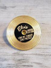 Elvis Presley Gold Record Limited Edition Love Me Tender Pinback Pin Graceland