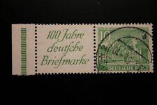 Berlin gestempelt Mi.Nr. W9 geprüft 10 Pfennig Bauten-Rand-Zusammendruck 1949