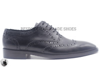 Women's Bespoke Handmade Oxford Brogue Wingtip Leather  Lace-Up Ribbon Shoes