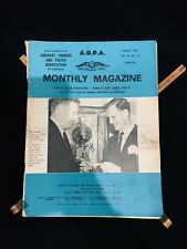 Aircraft Owners and Pilots' Association magazine, 1967, AOPA, vintage, aviation
