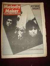 MELODY MAKER 1980 JAN 26 CHRISSIE HYNDE UFO HARDMAN PINK FLOYD THIN LIZZY GAYE
