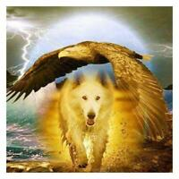 #QZO 5D Wolf Eagle Diamond Painting Embroider DIY Full Drill Mosaic Cross Stitch
