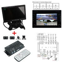 """360° View 4Camera Car DVR Panorama Parking Security Reversing Rearview w/7 """"LCD"""