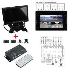 """360 ° View 4 caméra DVR voiture Panorama Parking Sécurité de marche arrière de recul avec 7 """"LCD"""