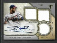 2017 Topps Triple Threads RPA-MS Miguel Sano Triple Jersey AUTOGRAPH RC AUTO /75