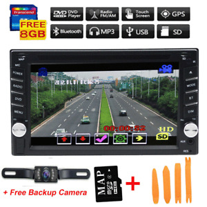 """in Dash 6.2"""" Double 2Din Car Stereo Radio CD DVD Player GPS Navigation Bluetooth"""