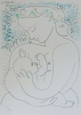 """PABLO PICASSO """"Maternite"""" Maternity SIGNED HAND NUMBERED 457/1000 LITHOGRAPH"""