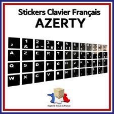 Sticker Autocollant AZERTY NOIR Touches de Clavier Français Ordinateur Portable