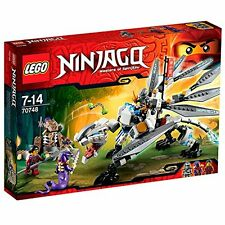 Lego 70748 Ninjago - Titanium Dragon 360 Pieces 3 Minifigures New Sealed!