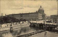 Berlin 1913 Blick auf d. königliche Schloss Schlossbrücke mit Stempel Zehlendorf