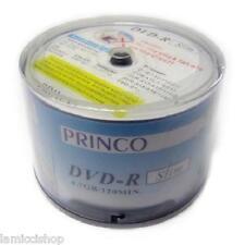 DVD-R 24x Princo Slim White Logo 4.7GB High Quality Blank Media 120pcs Discs