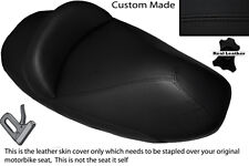BLACK STITCH CUSTOM FITS PEUGEOT ELYSTAR 125 DUAL LEATHER SEAT COVER ONLY