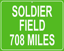 Chicago Bears Football Soldier Field Highway sign - distance to your house