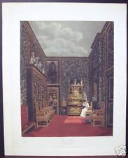 """W. H. Pyne: """"Green Closet, Frogmore"""" 1819 Engraving"""