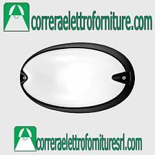 Plafoniera applique parete esterno design PRISMA CHIP OVALE 30 nero E27 005782