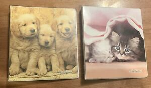 Lot Of 2 Class Act Keith Kimberlin [ 3 Ring Binder ] Puppies & Kittens Size 1in