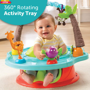 Wild Safari Baby Infant Booster Seat With 6 Playful Toys With Detachable Toy Bar