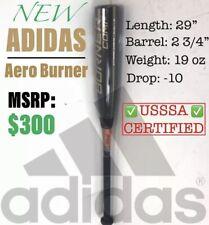"NEW adidas Youth Aero Burner Comp Baseball Bat 29""/19oz 2&3/4"" DN7056 USSSA CERT"